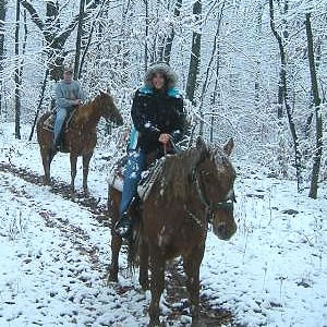 winter riding scene